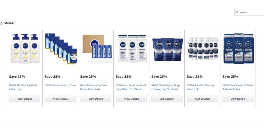 קופון 25% הנחה על מספר מוצרי Nivea