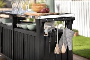 מזנון ברביקיו מטבח חוץ כתר יוניטי שף KETER Unity Chef – GRAY