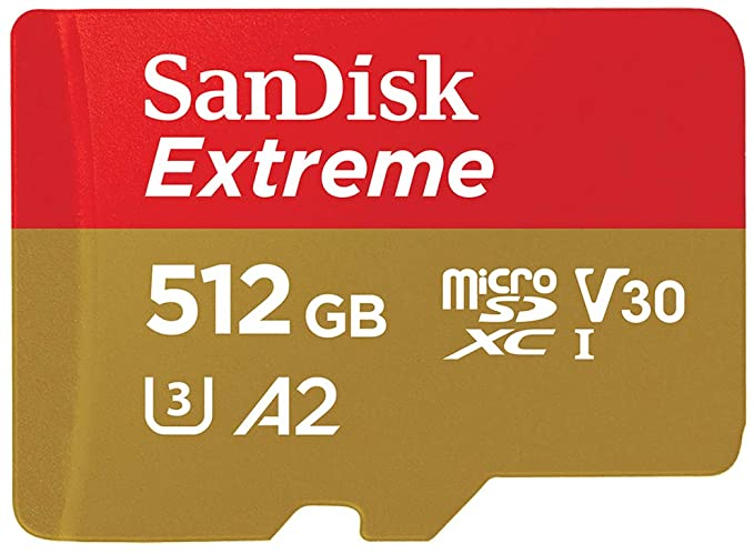כרטיס זיכרון SanDisk 512GB Extreme Micro-SD